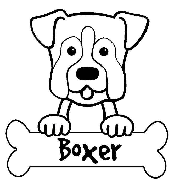 cartoon dog coloring pages - boxer dog coloring pages photo 2 for auction