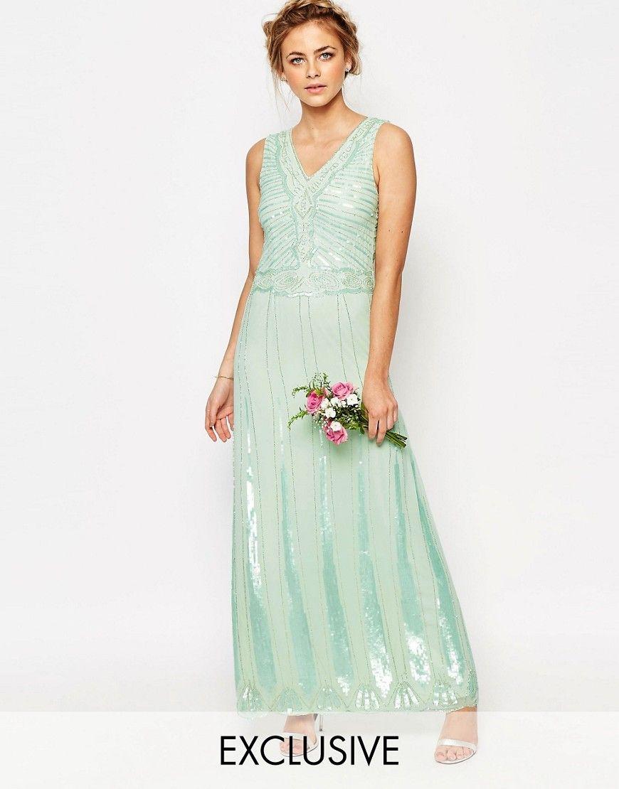 Vintage-Inspired Mint Bridesmaids Dresses