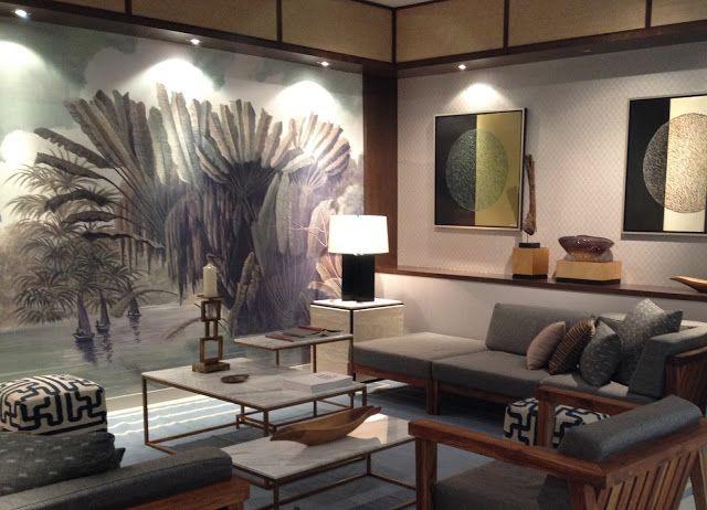 ananb panoramic wallpaper les p cheurs de l 39 okavango interior design interiors. Black Bedroom Furniture Sets. Home Design Ideas