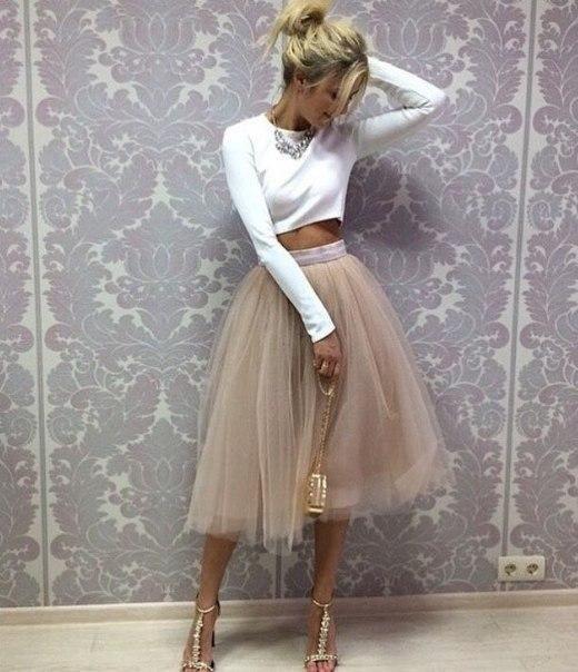Tulle Prom DressTwo Pieces Long Sleeve DressCustom Made Evening Dress
