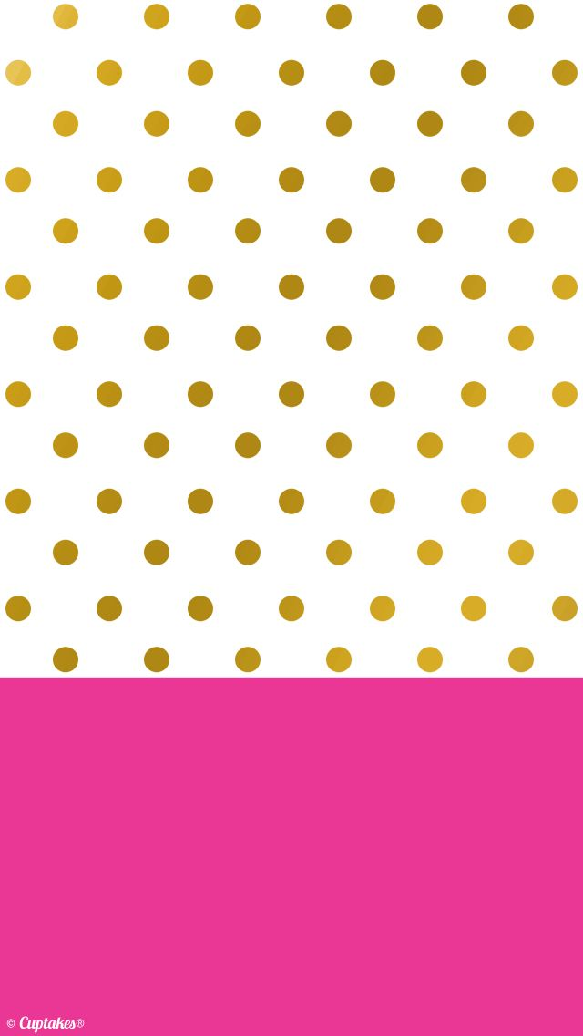 Gold dots and hot pink wallpaper background pretty pictures gold dots and hot pink wallpaper background voltagebd Images
