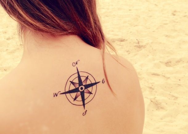 Compass - 4 cardinal points. (my very own tattoo) -mikayla jones