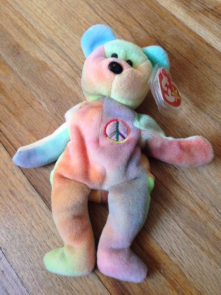 4921cd8711d Rare Ty Beanie Baby Peace Bear Original Collectible with Tag Errors ...
