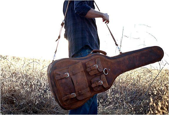 Vintage Leather Guitar Case Guitar Case Leather Guitar Accessories
