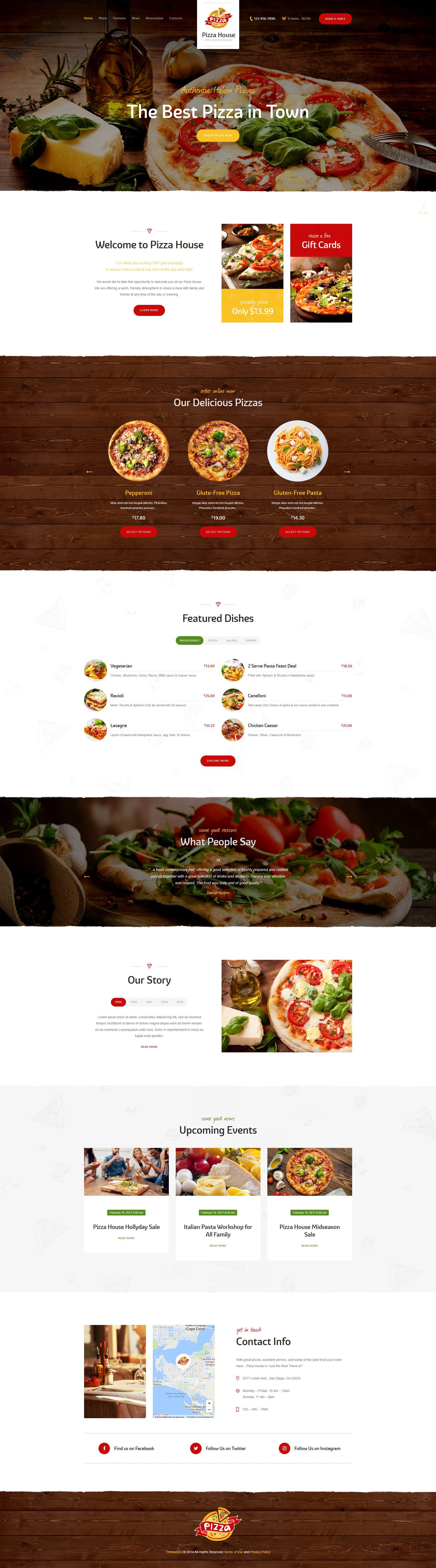 #Pizza lovers will like this stylish #WordPress theme
