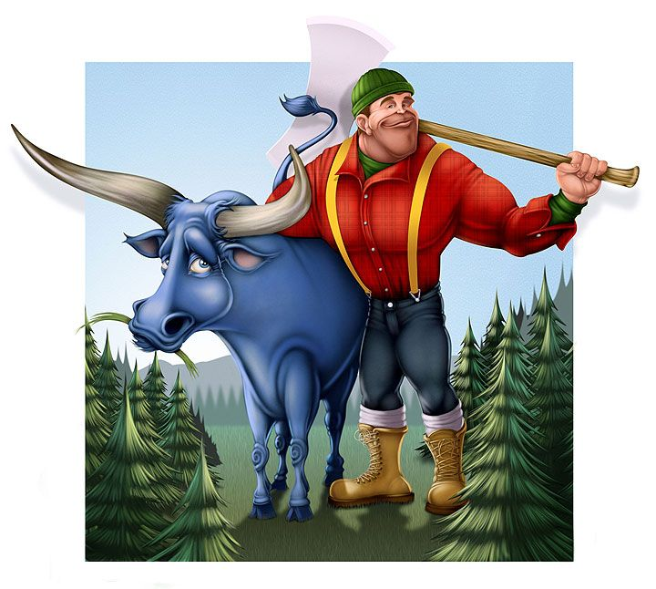 an analysis of the babe the blue ox Rl11-123 analyze the impact of the author's choices  birthday his father gave  him a pet blue ox named  paul and babe were so large, the tracks they made.