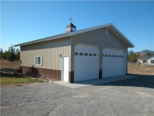 Barn living pole quarter with metal buildings for Garage and shop buildings