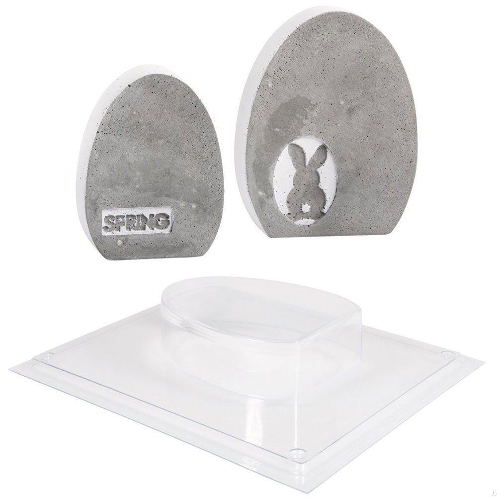 beton eier f r die osterdeko selber gie en gie formen in verschiedenen gr en und labels zum. Black Bedroom Furniture Sets. Home Design Ideas