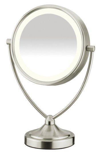 Robot Check Makeup Mirror With Lights Makeup Mirror Travel Makeup Mirror