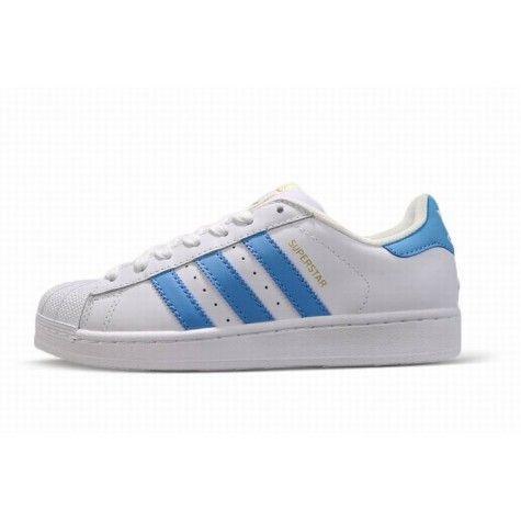 adidas superstar heren wit blauw