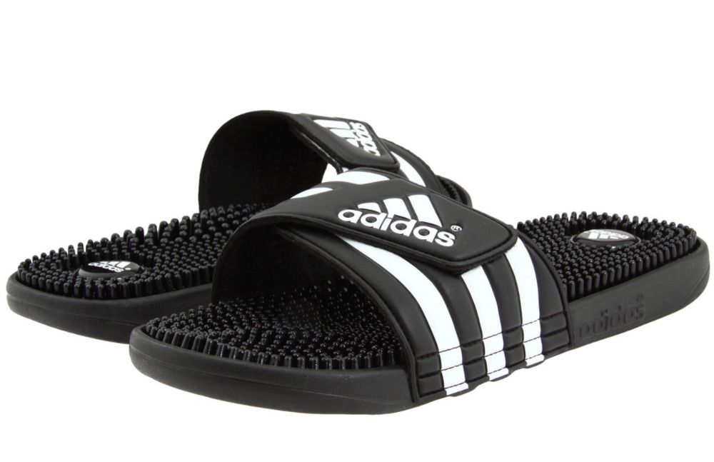 Adidas Adissage Black Slides Shower Athletic Swim Sandal 087609 ...