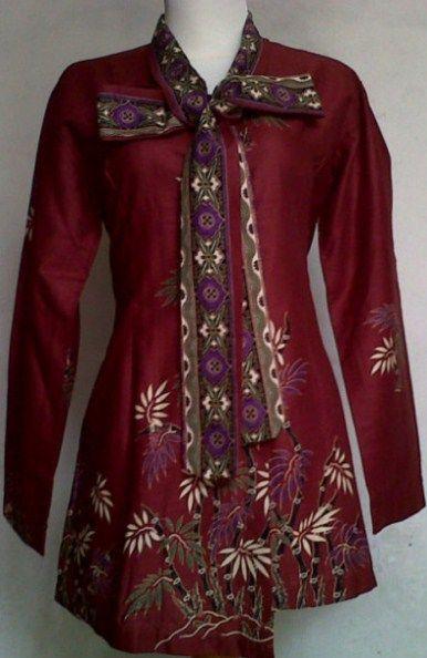 Contoh model baju batik kerja wanita  Kubah Masjid  Pinterest