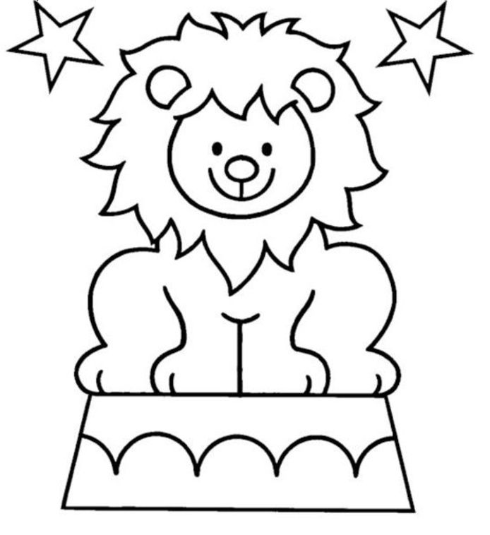 Lion Coloring Pages For Kids Lion Coloring Pages Circus Crafts