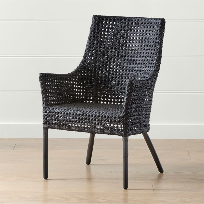 Shop Maluku Black Rattan Dining Arm Chair Maluku S Airy Weave