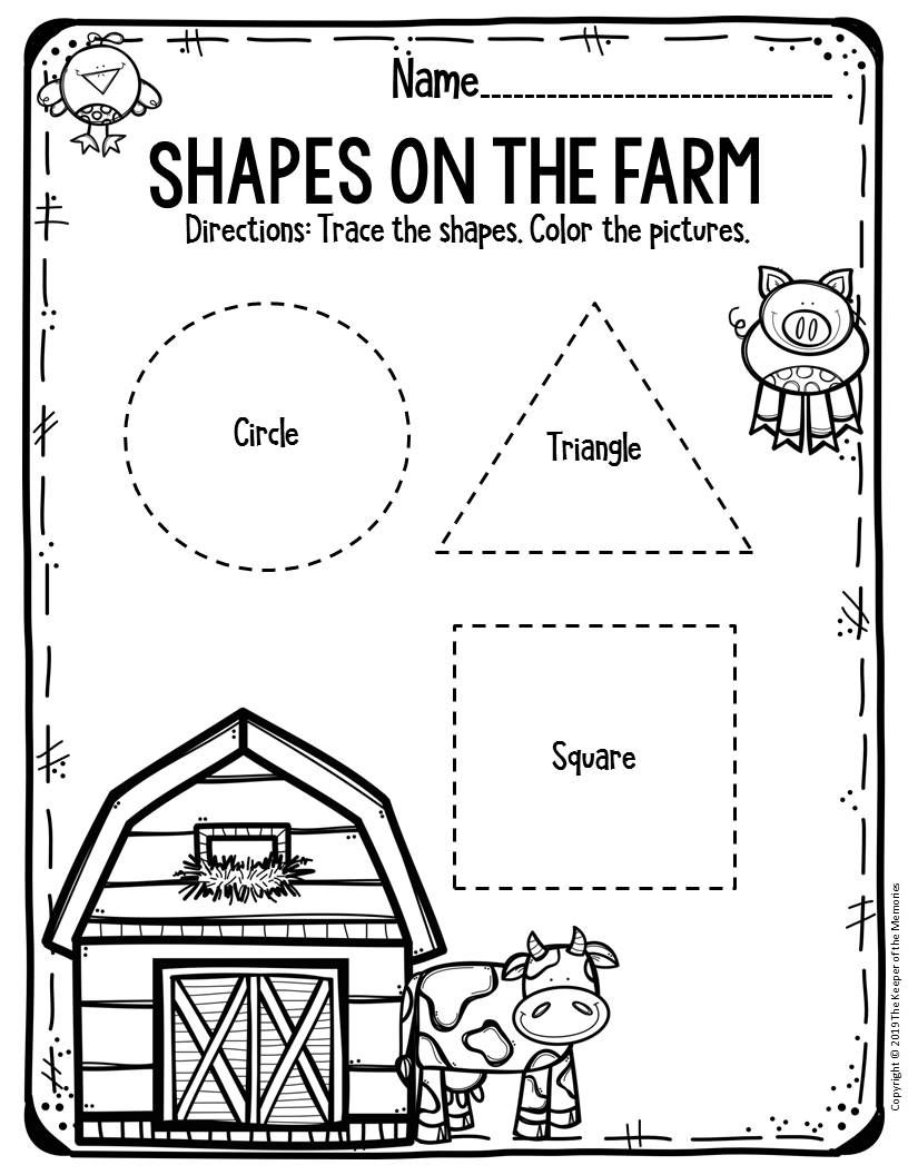 Free Printable Worksheets for Preschool & Kindergarten