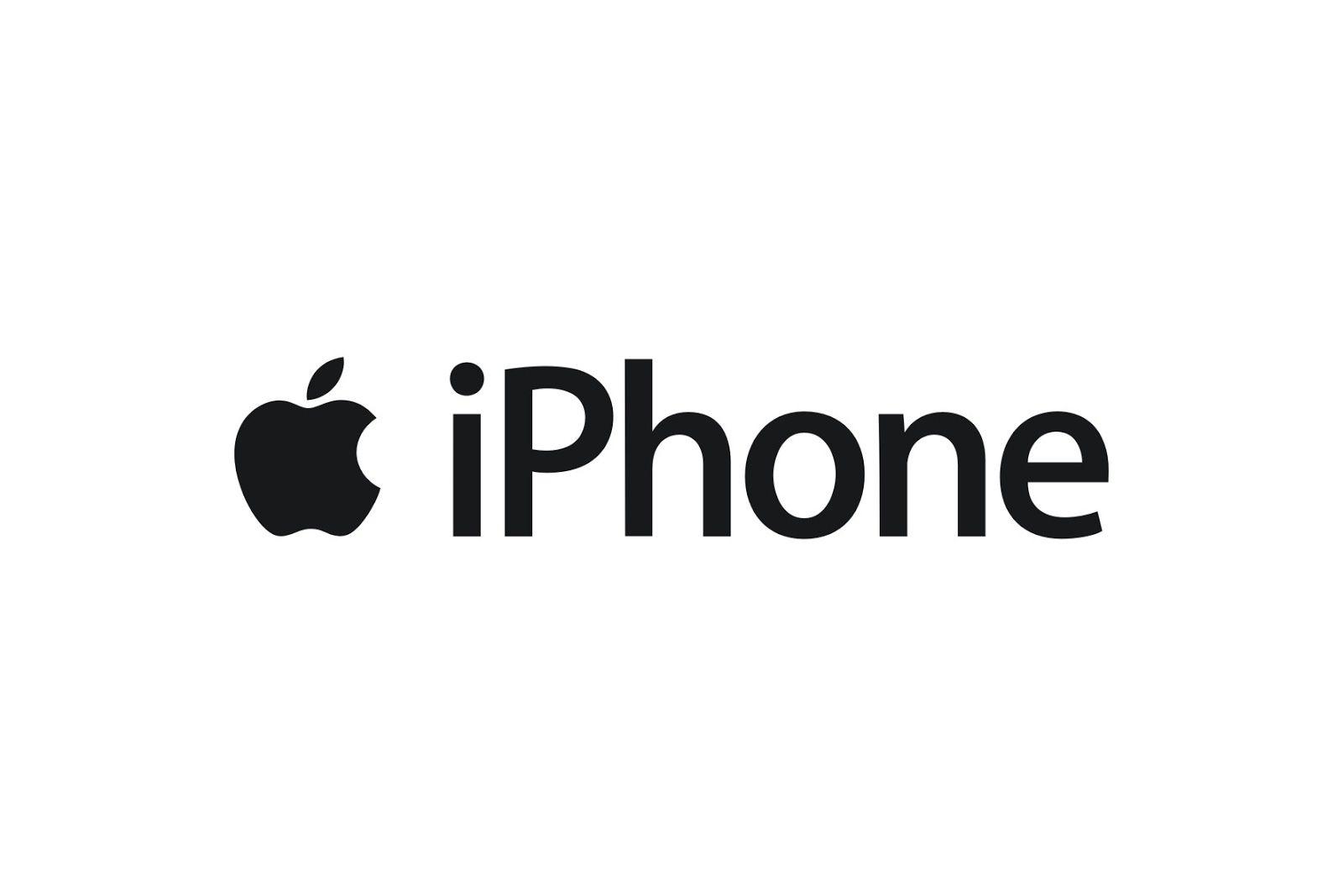 Apple iPhone // gesetzt aus einer modifizierten Version der Myriad Pro (jetzt auch als Myriad Apple eingetragen)