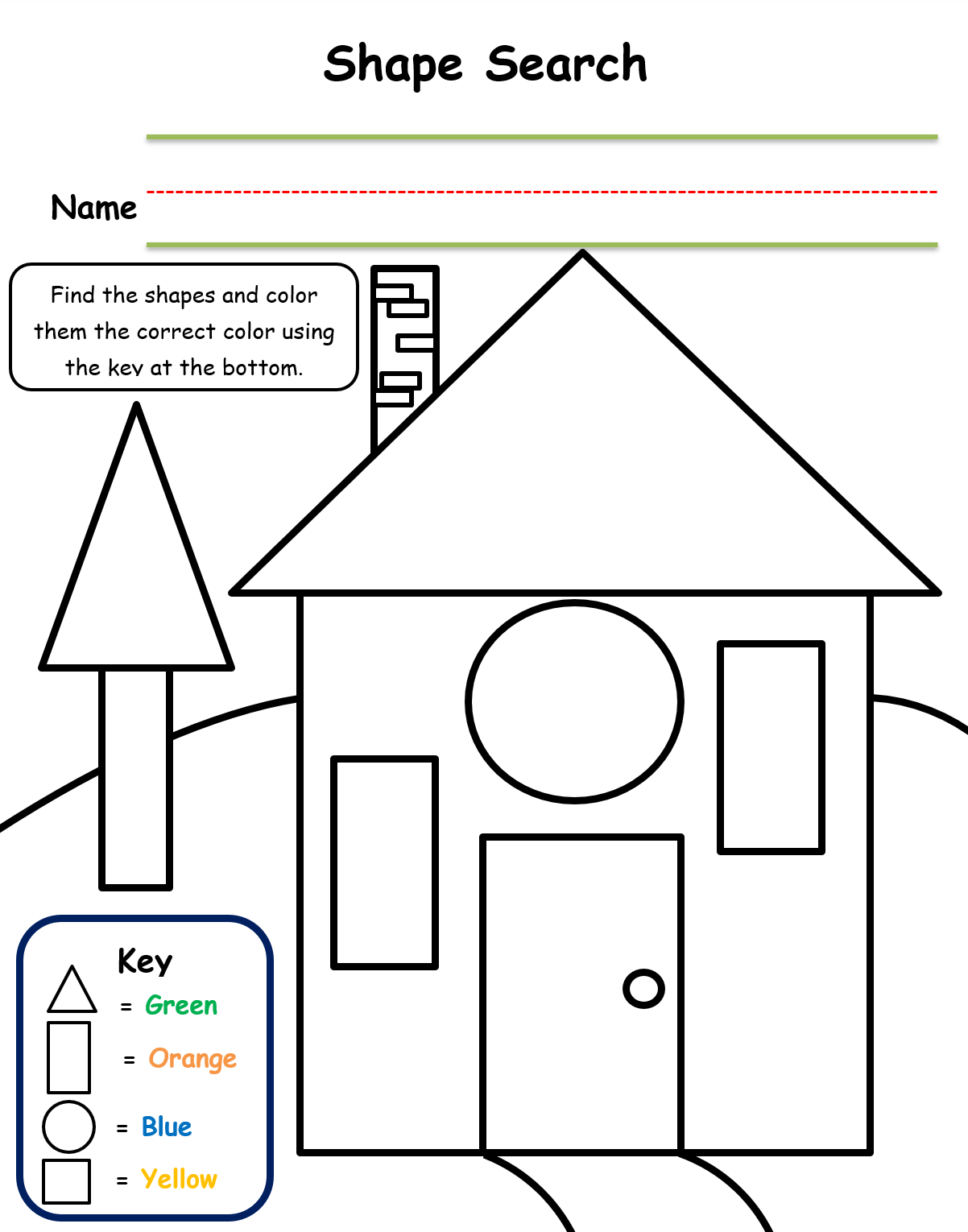 Pin Di Shape Lesson Worksheets