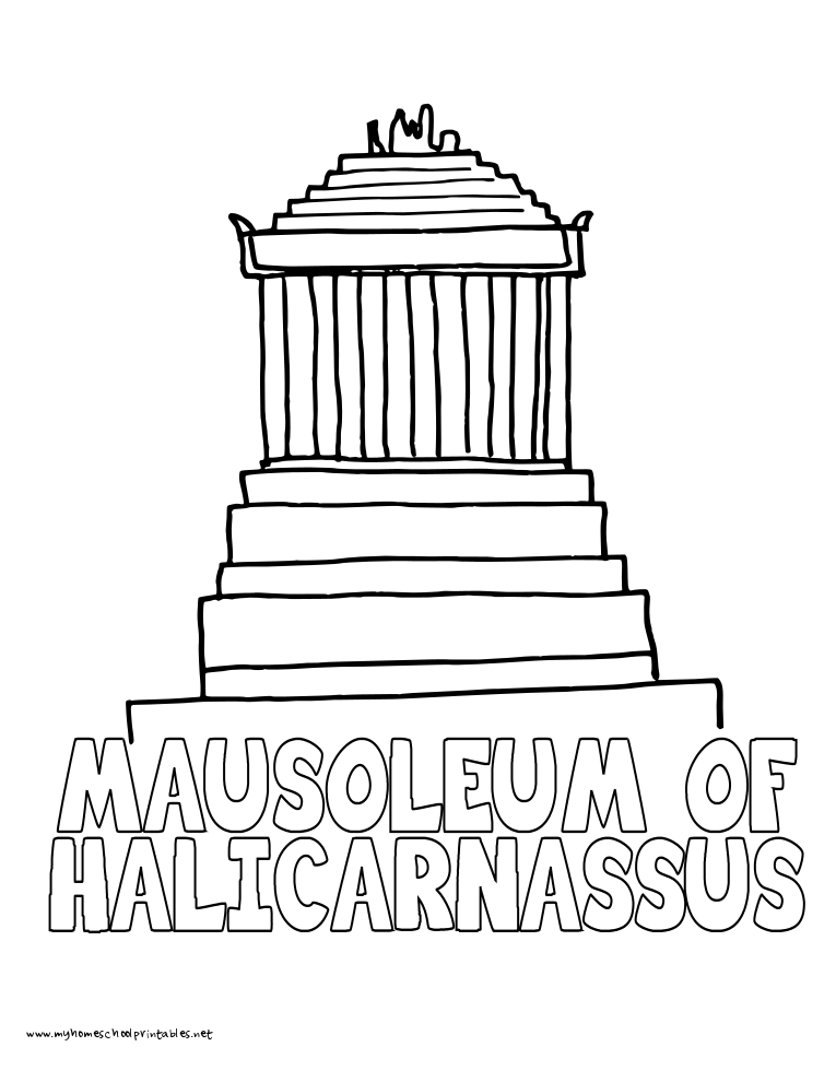 World History Coloring Pages Printables Halicarnassus Quick PrintWorld