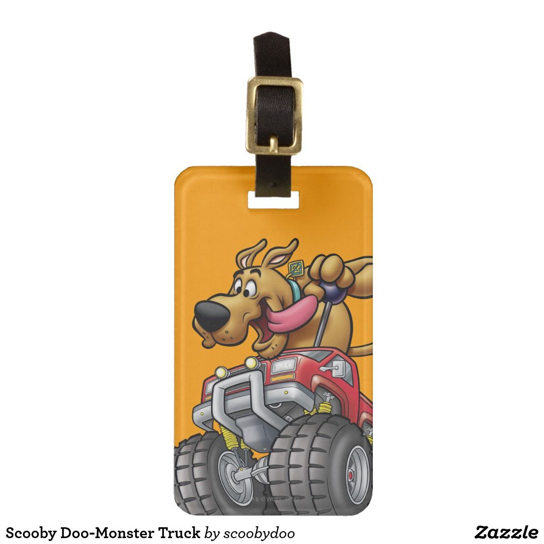 Scooby Doo Monster Truck Luggage Tag