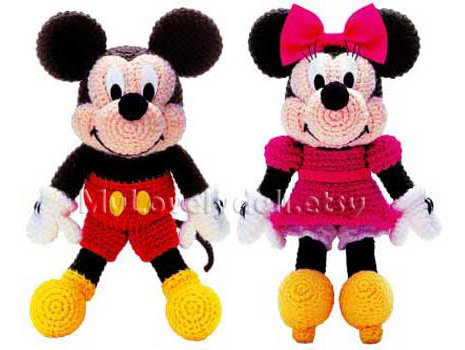 Mickey Mouse Minnie Mouse Amigurumi Crochet Pdf Pattern In English