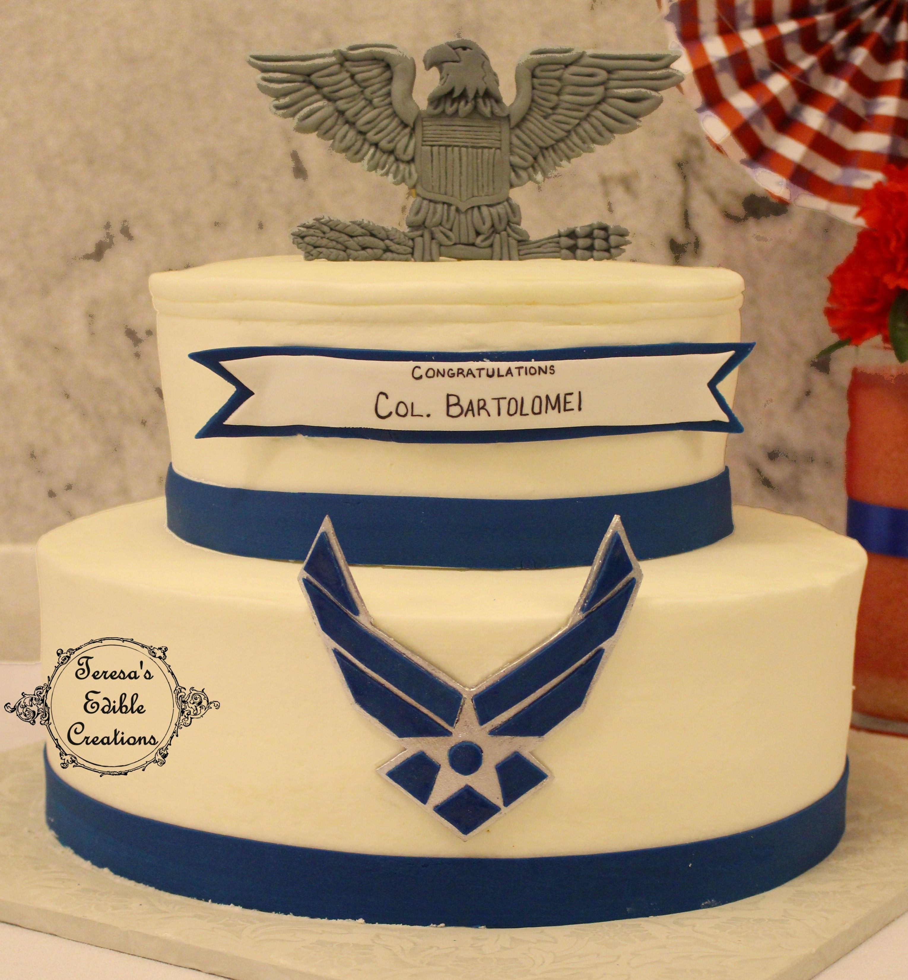 Air Force Wedding Ideas: Air Force Colonel Military Promotion Cake