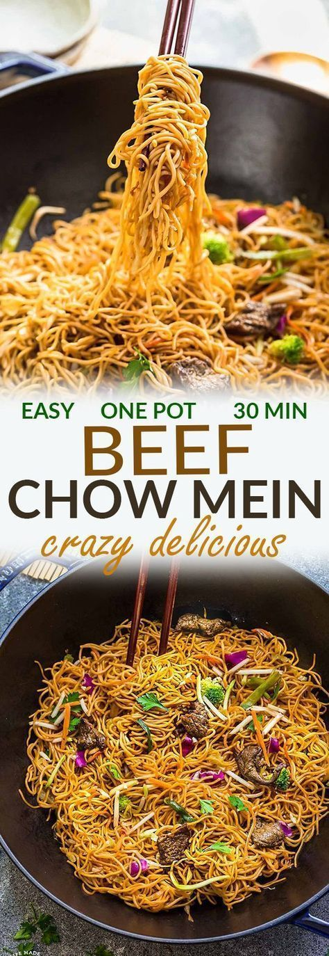 Beef Chow Mein is the perfect easy weeknight meal! Best of all, it comes together in under 20 minutes with in just one pot! Forget calling that local Chinese takeout restaurant for lo mein or ramen, t is part of Easy chinese recipes -