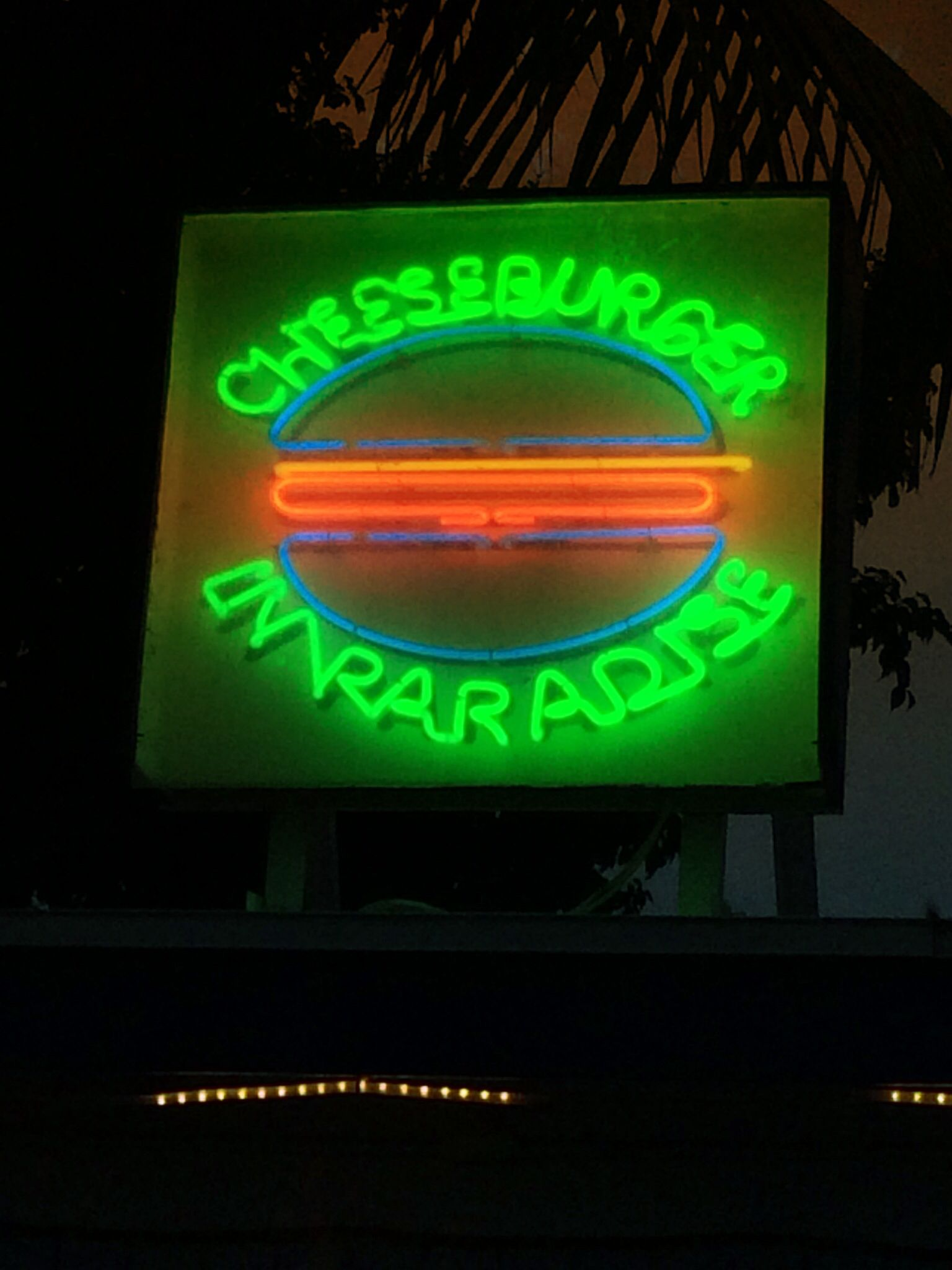 This place in St. Croix is the original...NO affiliation with Jimmy Buffet, and the BEST cheeseburgers ever!!  #neonsigns #stcroix