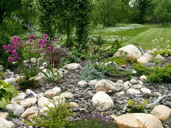 small rock garden landscaping can make use of out of the way