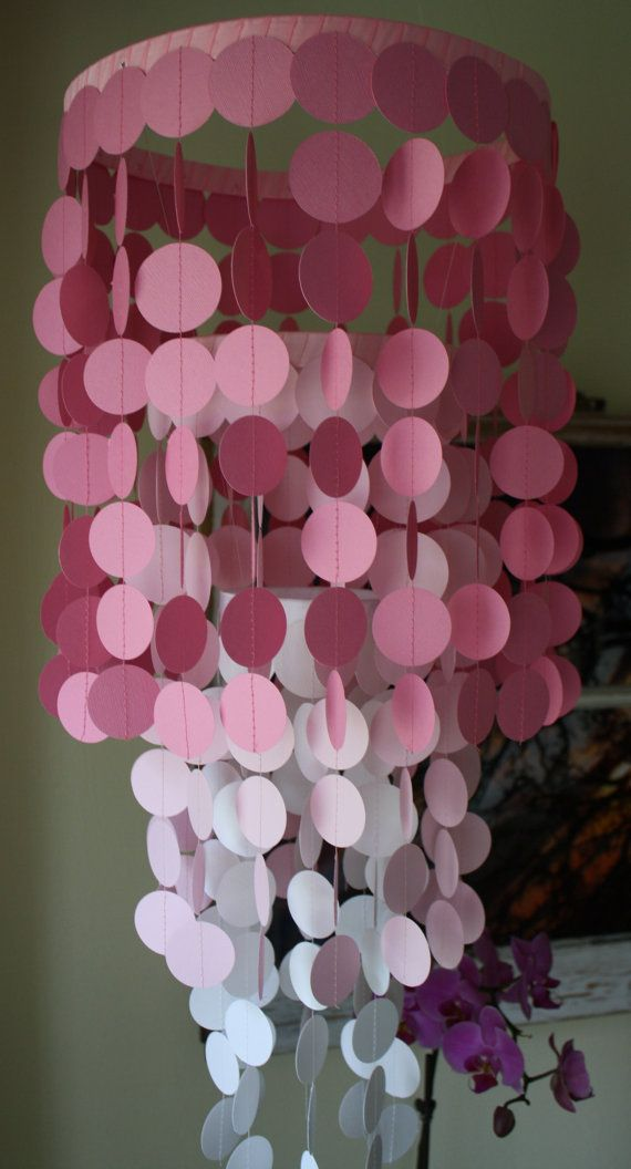 Choose your colors paper chandelier or mobile beautiful for items similar to custom paper chandelier or mobile beautiful for weddings nurseries or party decorations on etsy mozeypictures Image collections