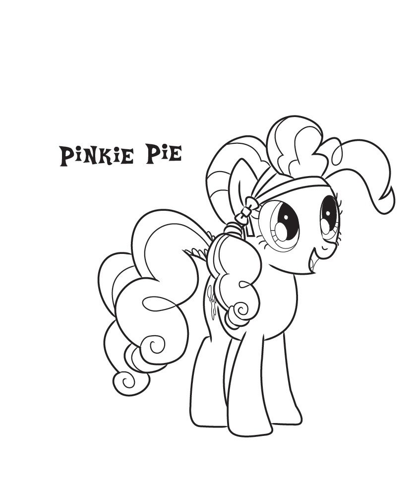 Pinkie Pie Coloring Pages Best Coloring Pages For Kids My Little Pony Coloring Pinkie Pie Coloring Pages