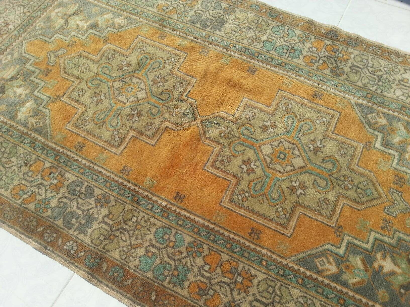 Anatolian Handwoven Antique Decoration Wool Turkish Rugs Oushak Rug Pastel