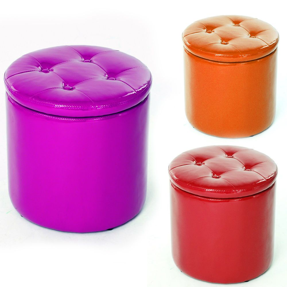 Large Value Storage Padded Foot Stool Home Bedroom Seat Ottoman Pouffe Toy  Box. Large Value Storage Padded Foot Stool Home Bedroom Seat Ottoman