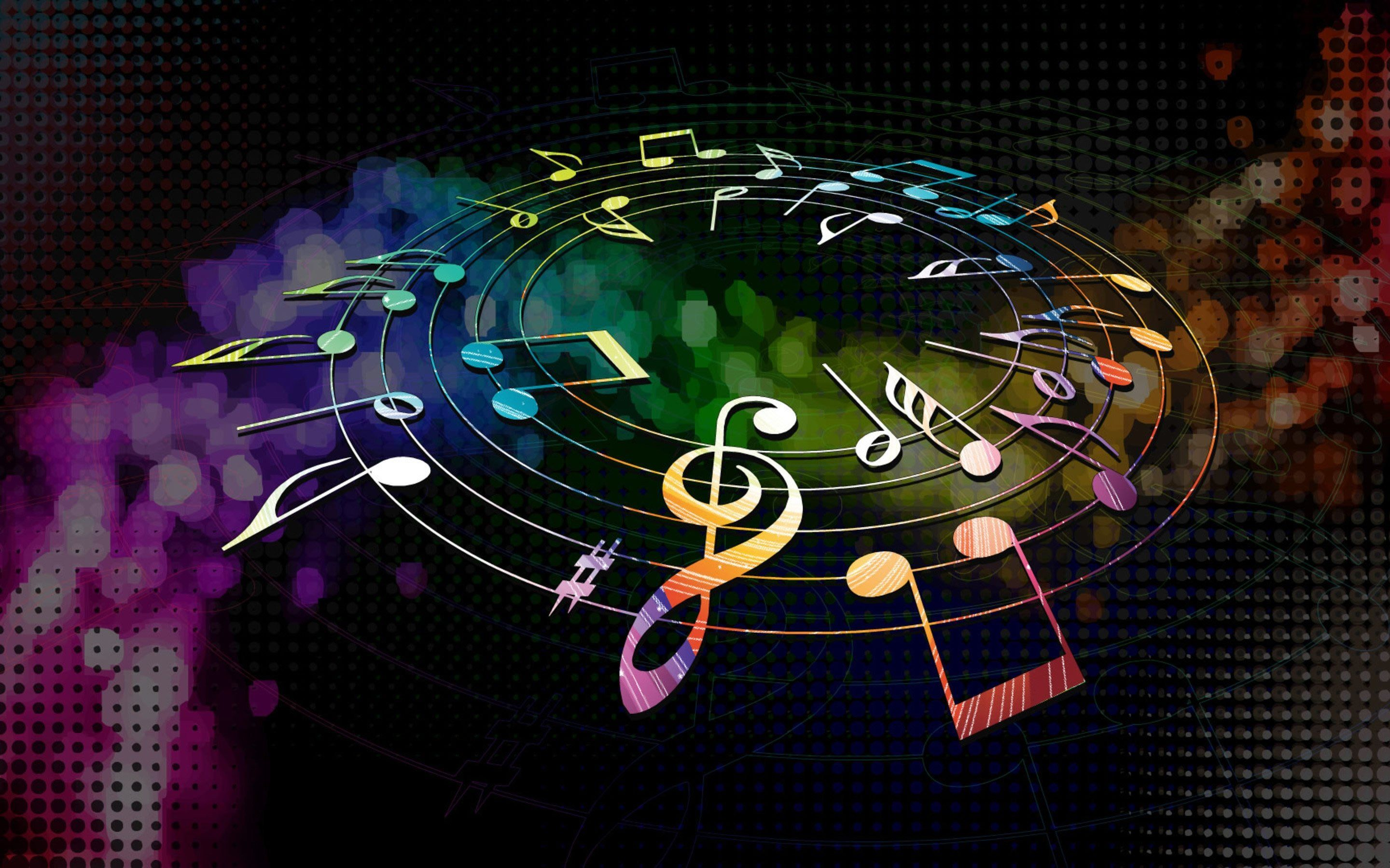 Colorful music notes wallpaper walldevil wallpapers 4k colorful music notes wallpaper walldevil voltagebd Image collections