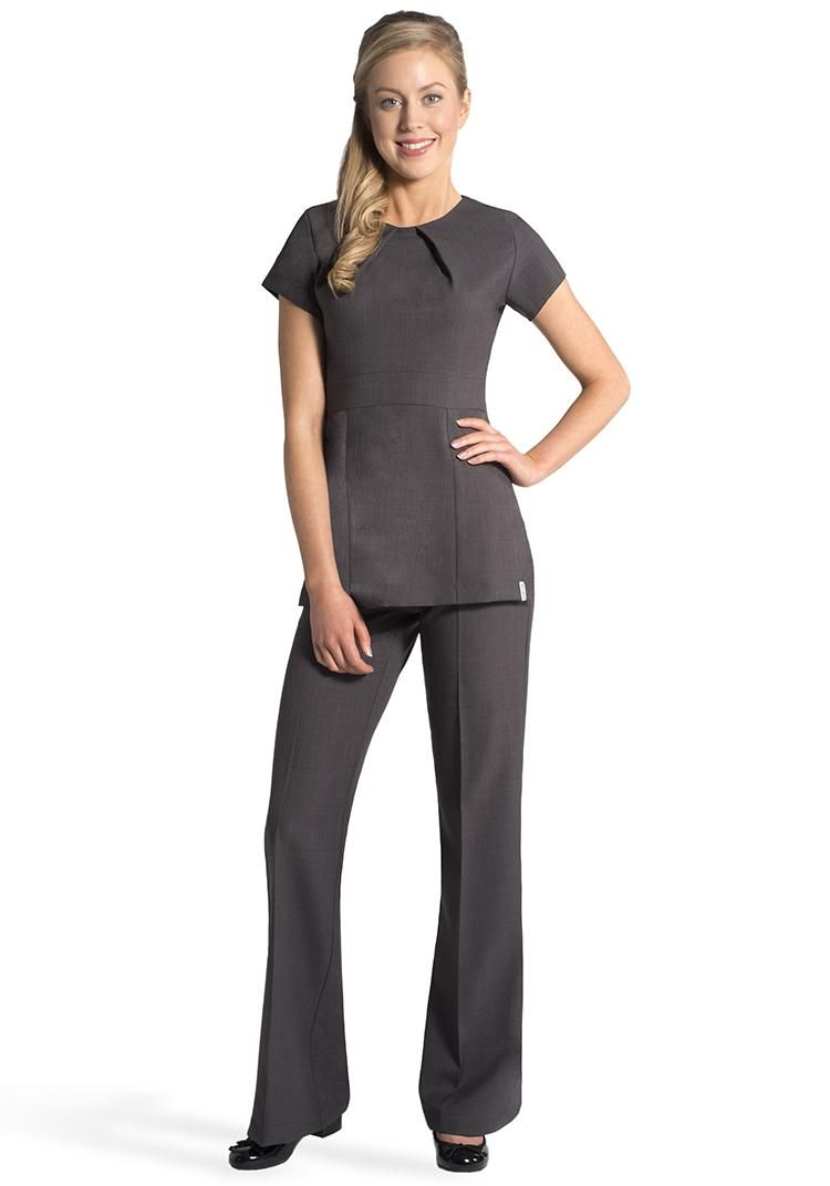 Florence roby beauty uniforms beauty tunics salon wear for Spa uniform patterns