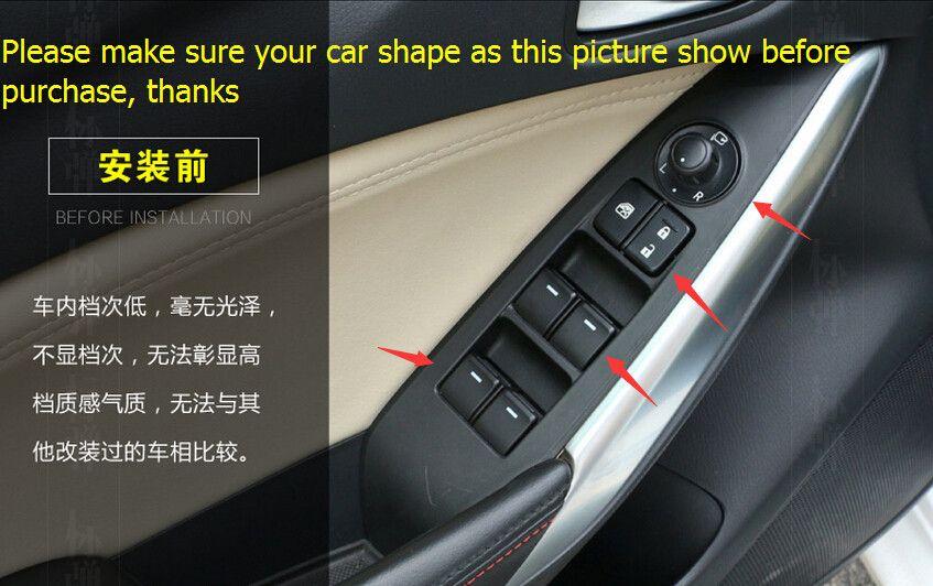 Interior For Mazda 6 Atenza Sedan 2013 2014 2015 ABS Inner Door Armrest  Window Lift Switch