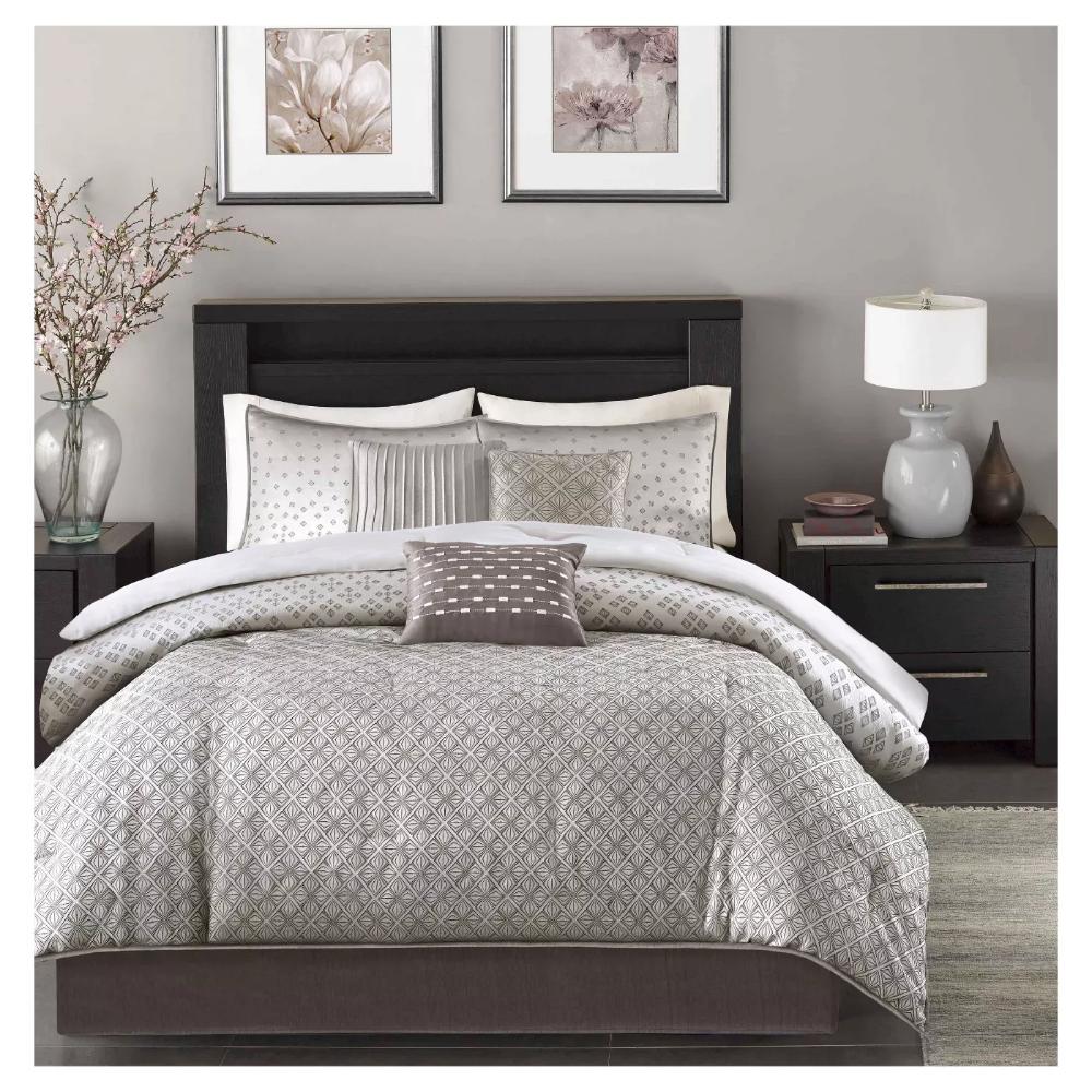 Navy Hudson Comforter Set (Queen) 7pc in 2020 Farmhouse