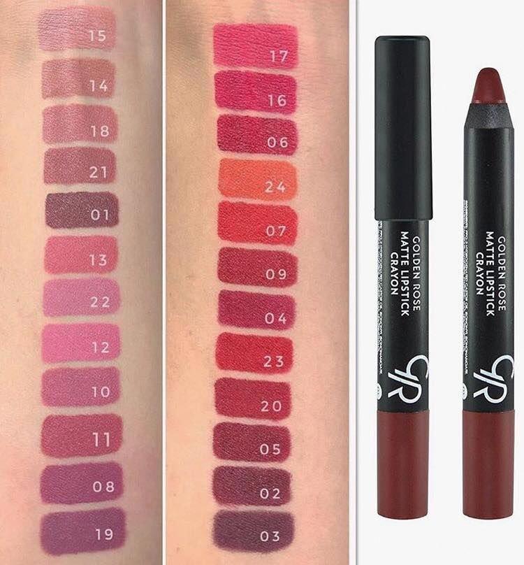 Love These Great Matte Lipsticks Advert 2598 Mattelipsticks Golden Rose Lipstick Crayon Lipstick Golden Rose