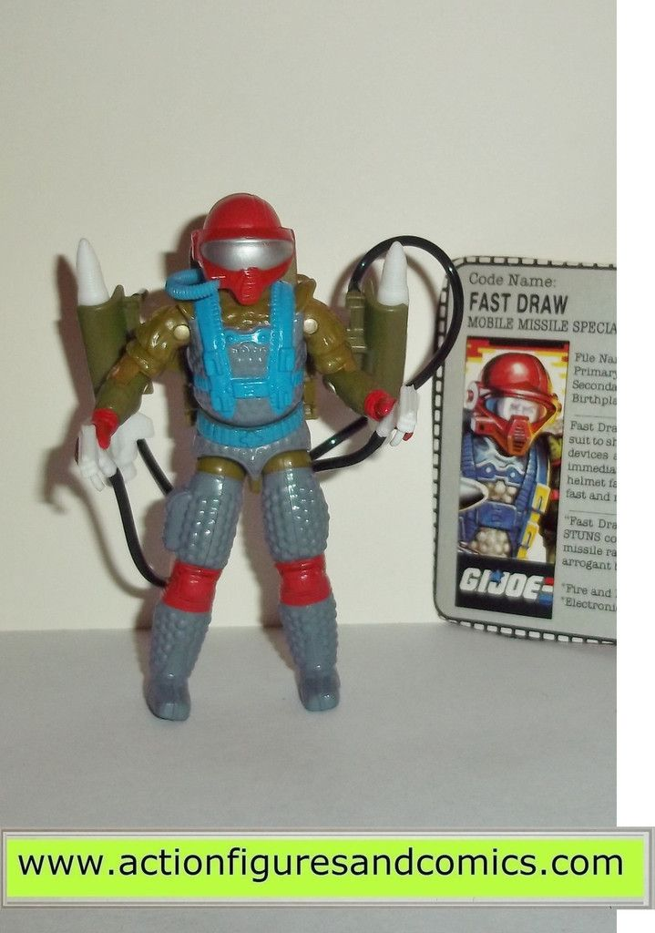 Action Figure G.I GI Joe Fast Draw Hasbro 1987