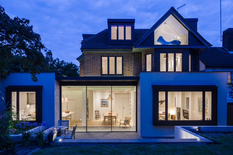 muswell hill house by jones associates architects a contemporary extension to a 1930s house in. Black Bedroom Furniture Sets. Home Design Ideas