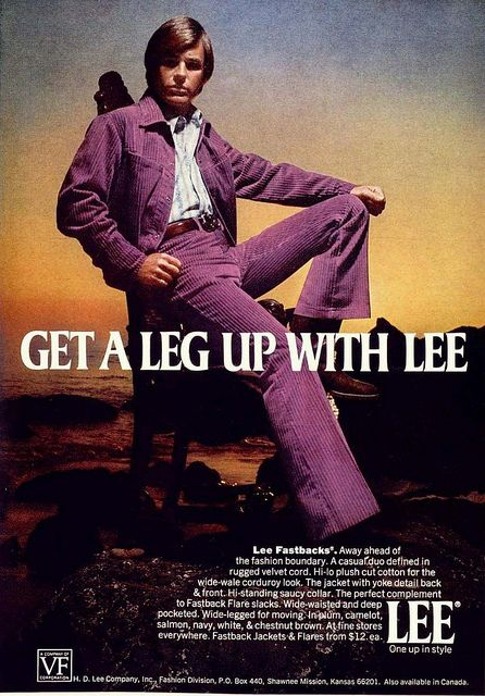 1971 LEE Cords for Men. (from retro-space/Flickr)