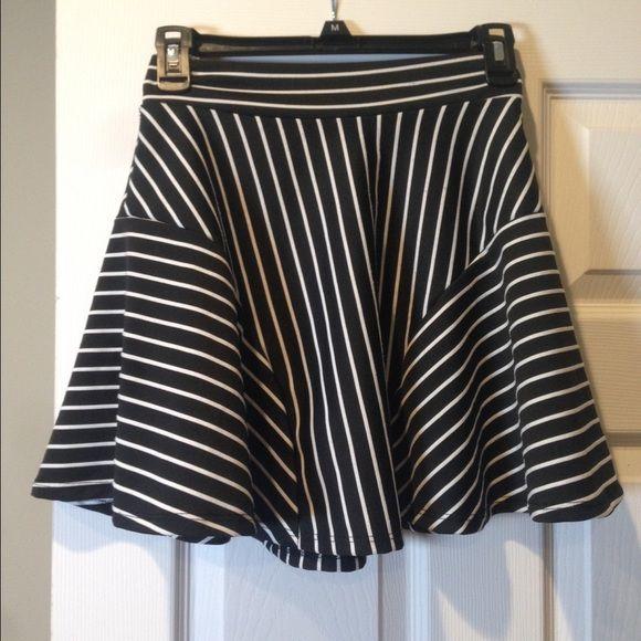 Black and white striped skater skirt Black and white striped skater skirt Skirts Circle & Skater