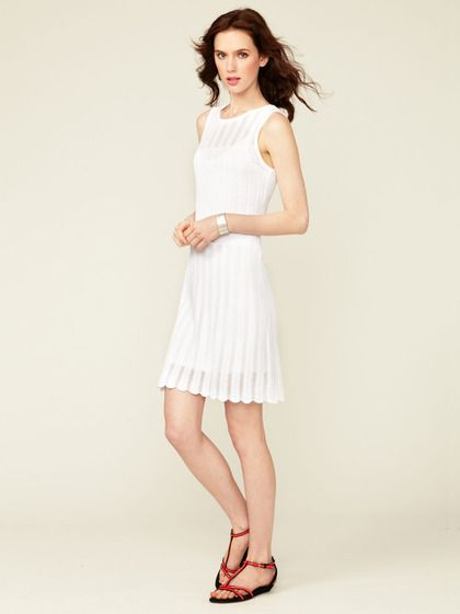 Cynthia Steffe Justine Pointelle and Crochet Dress