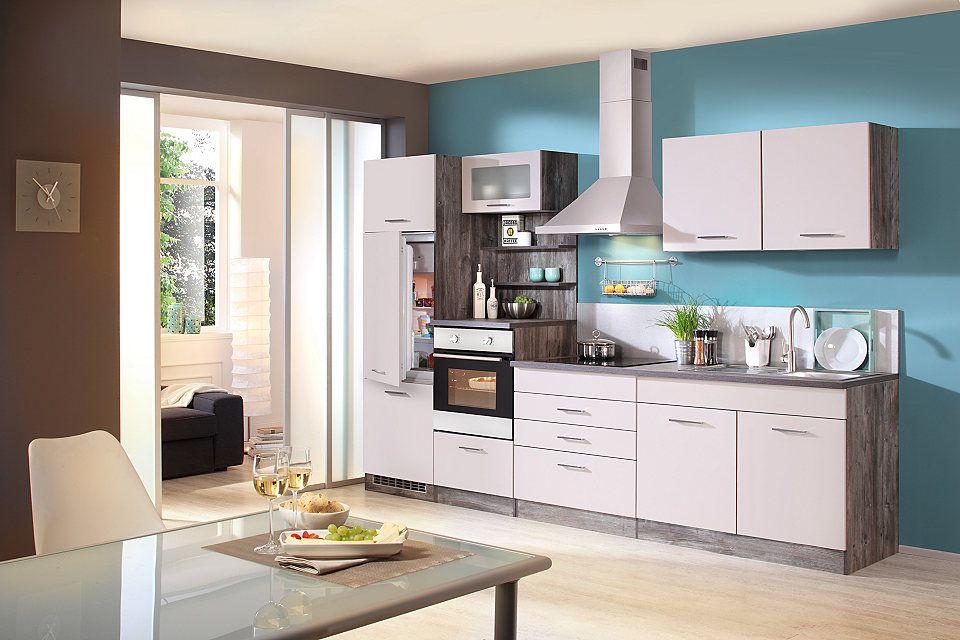 HELD MÖBEL Küchenzeile mit E-Geräten »Cannes, Breite 300 cm« Jetzt - küchenblock ohne e geräte