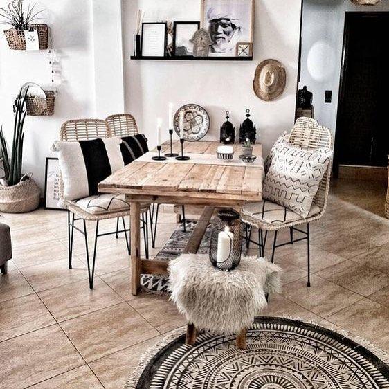 boho rustic living room images