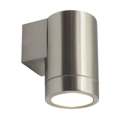 LED Wandleuchte, Wandlampe, Außenleuchte, 1 Flammig, Edelstahl, GU10 230V