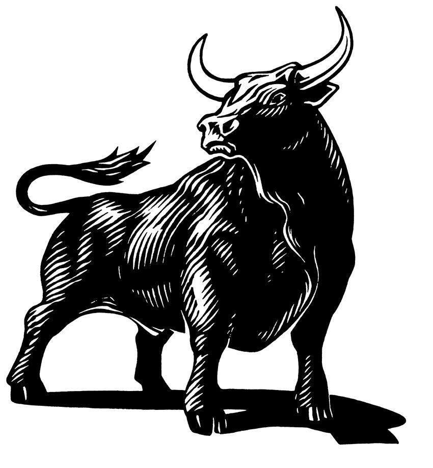Открытки поздравительные, картинки знак зодиака телец черно белые