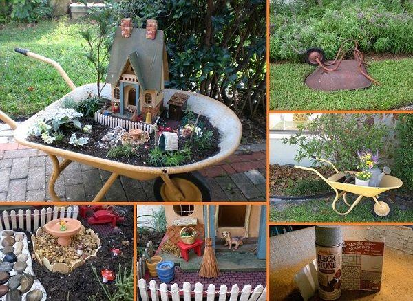 Diy Wheelbarrow Miniature Garden Reminds Me Of Our Cigar Box