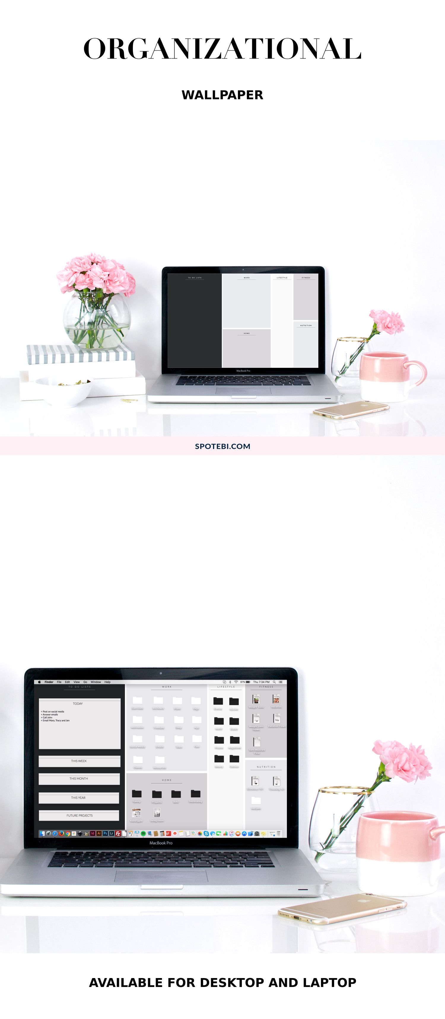 Organizational Wallpaper Style Your Life Desktop Wallpaper Organizer Desktop Organization Free Wallpaper Backgrounds