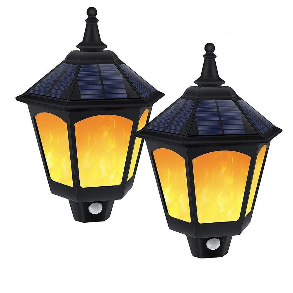 Best decorative outdoor garden led solar wall lights on