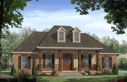 Country Style House Plans - 2200 Square Foot Home , 1 Story, 4 ...